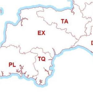 Postcode Boundary Map